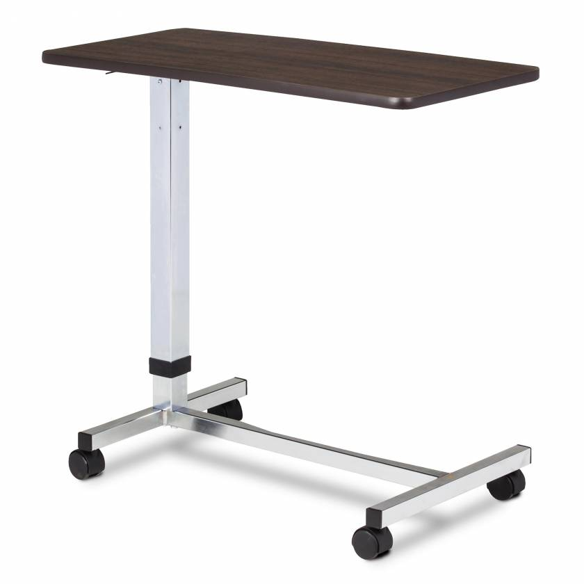Clinton Model TS-170 H-Base, Over Bed Table With Walnut Laminate Top