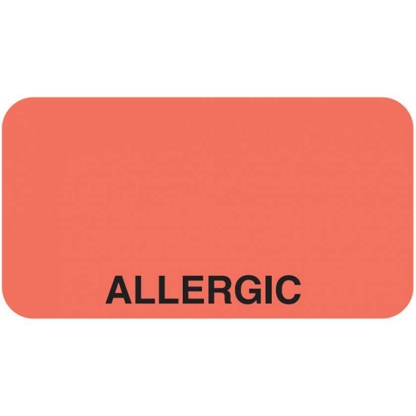 "ALLERGIC Label - Size 1 5/8""W x 7/8""H"