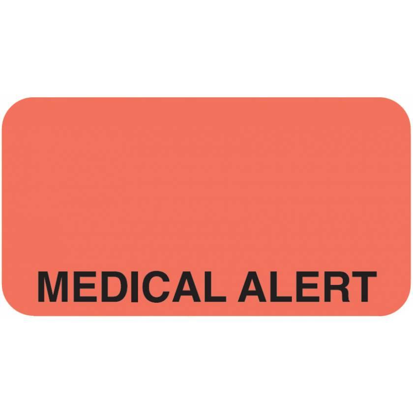 "MEDICAL ALERT Label - Size 1 5/8""W x 7/8""H"