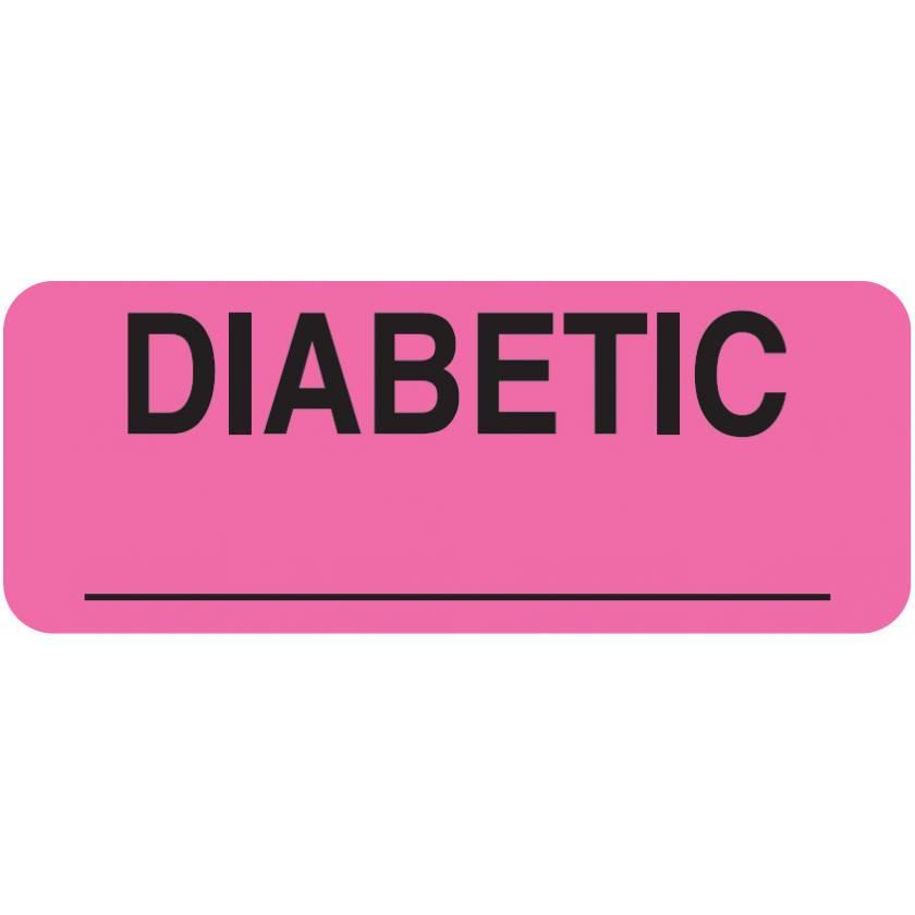 "DIABETIC Label - Size 2 1/4""W x 7/8""H"