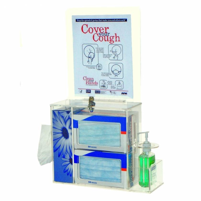 Clear Acrylic Locking Respiratory Hygiene Station UM3099