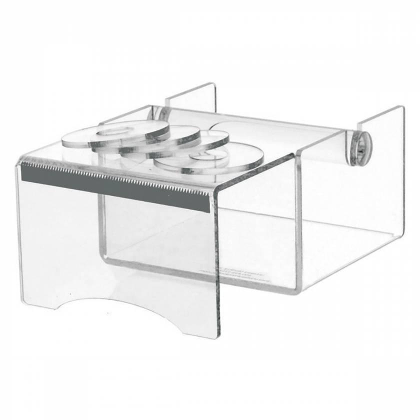 UM3119 Acrylic Label Tape Dispenser with Writing Shelf