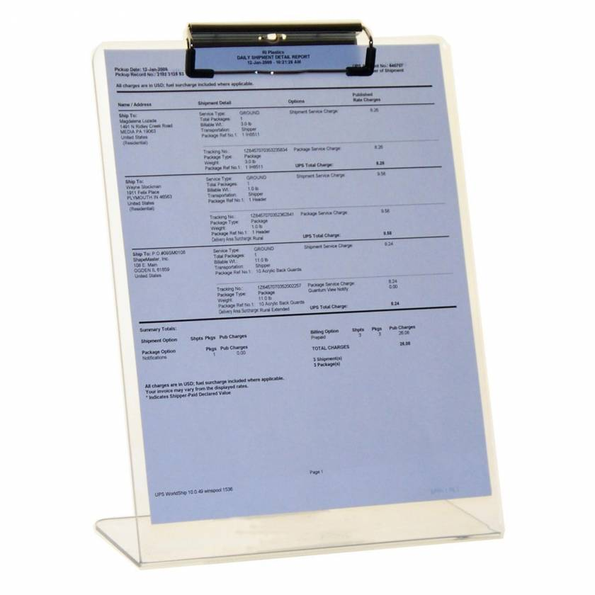 Clipboard Stand - Clear UM4507