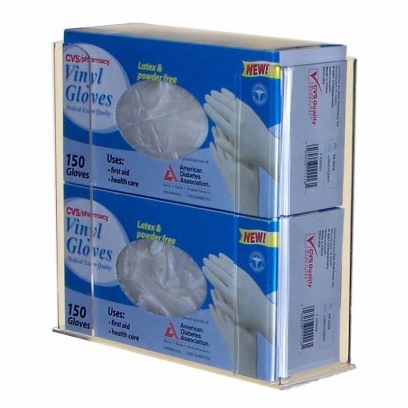 Acrylic Two Glove Box Holder UM4533