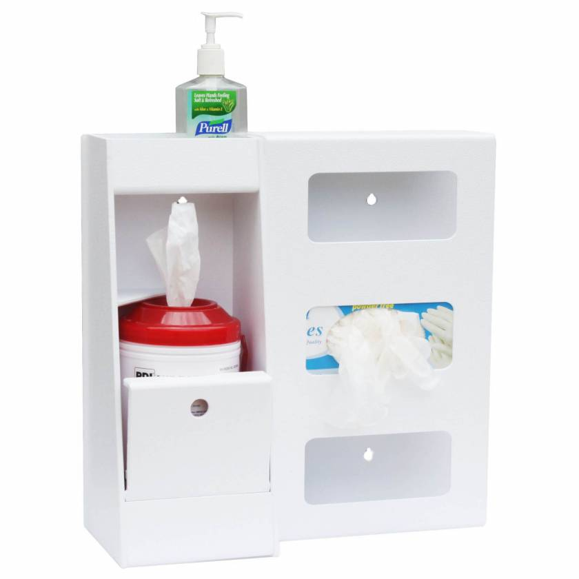 Deluxe Wipe Station Model UM4883 (Hand Sanitizer, Wipes Container, and Box of Gloves are not included)