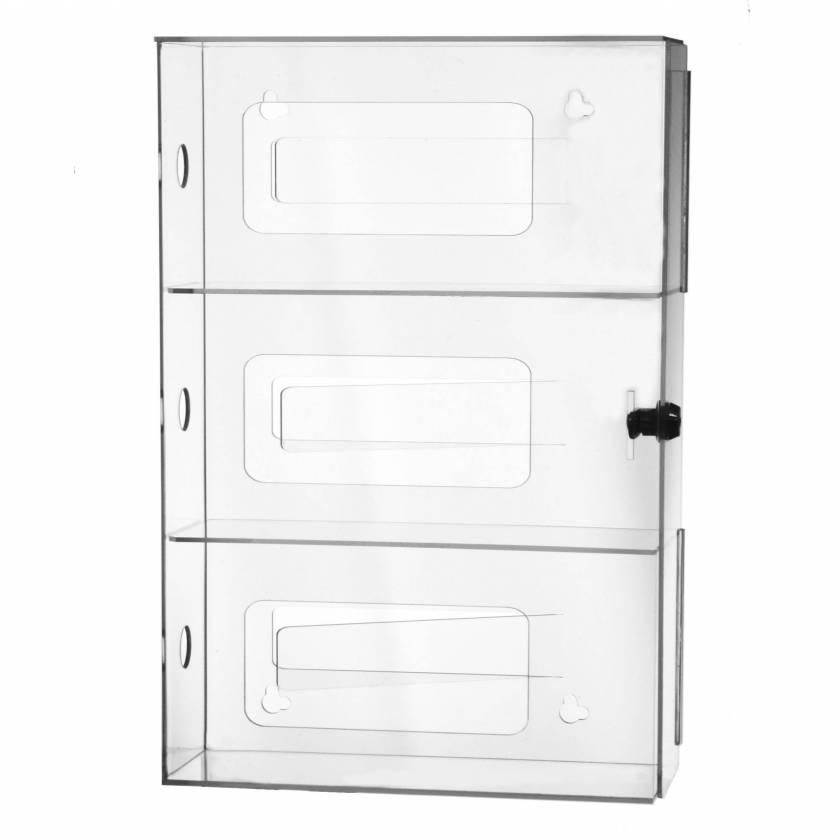 UM4890 Three Box Glove Dispenser with Locking Door