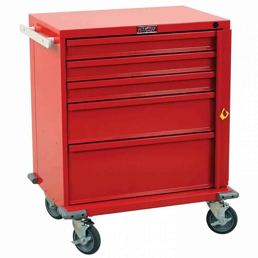 Harloff V24-5B V-Series Short Emergency Cart 5 Drawer Breakaway Lock