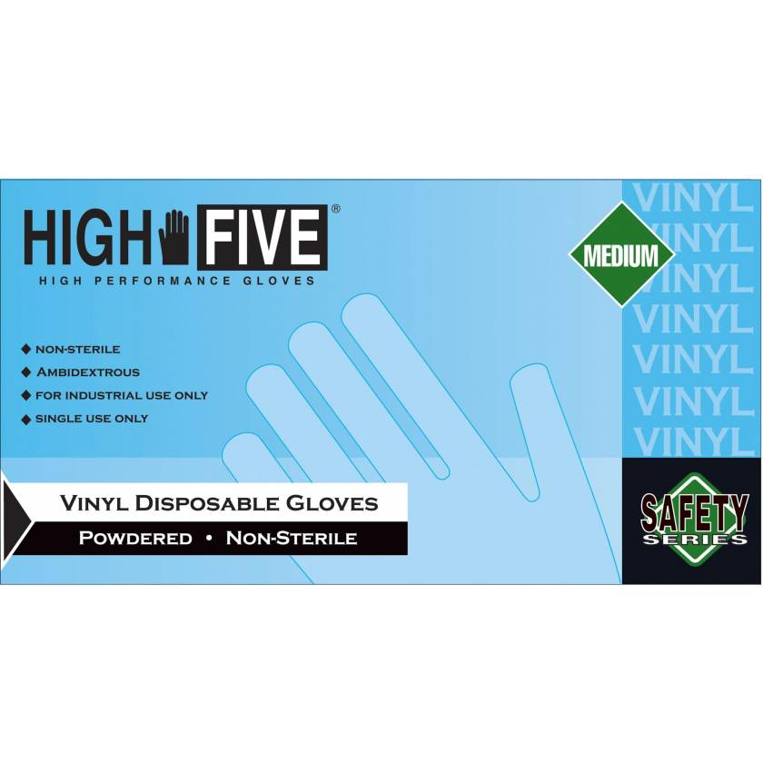 Vinyl Powdered Gloves - Clear Color