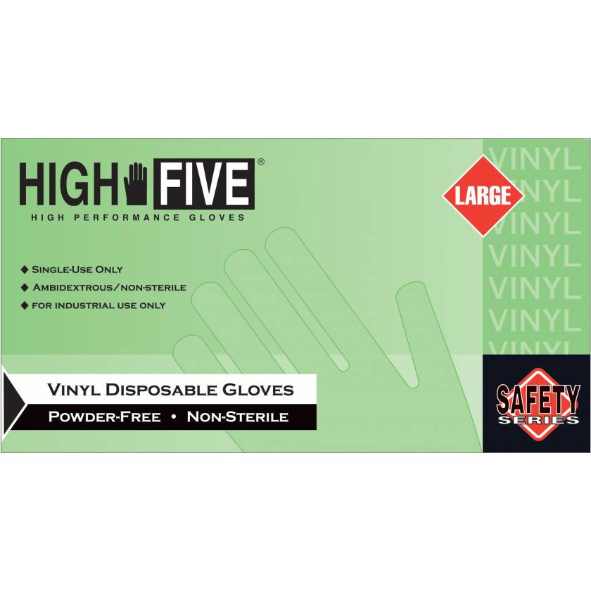 Vinyl Powder Free Gloves - Clear Color