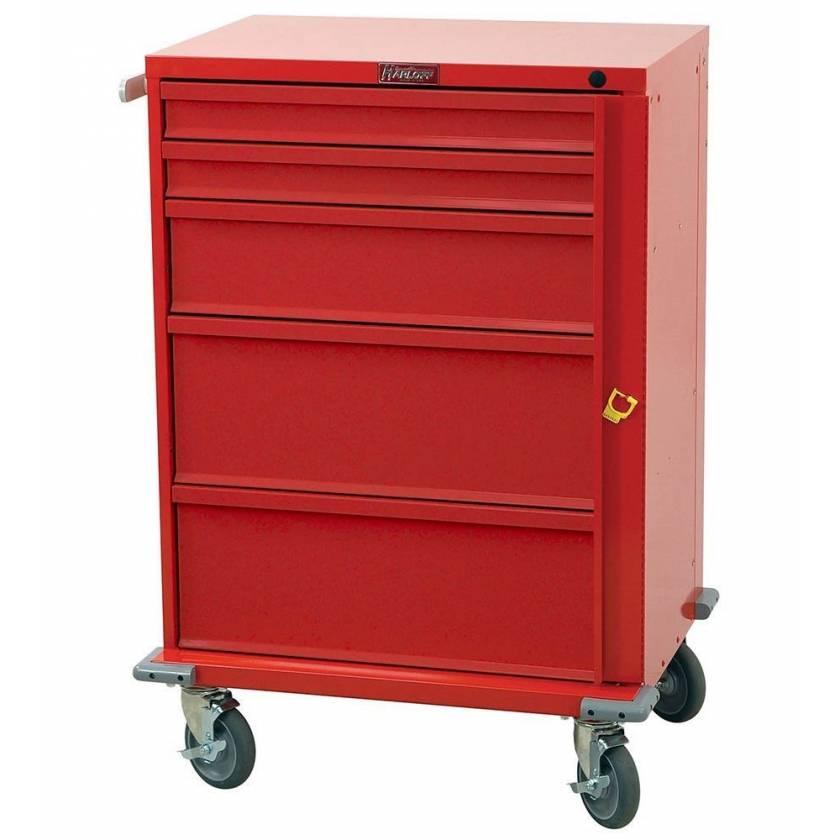 Harloff V30-5B V-Series Tall Emergency Cart 5 Drawer Breakaway Lock