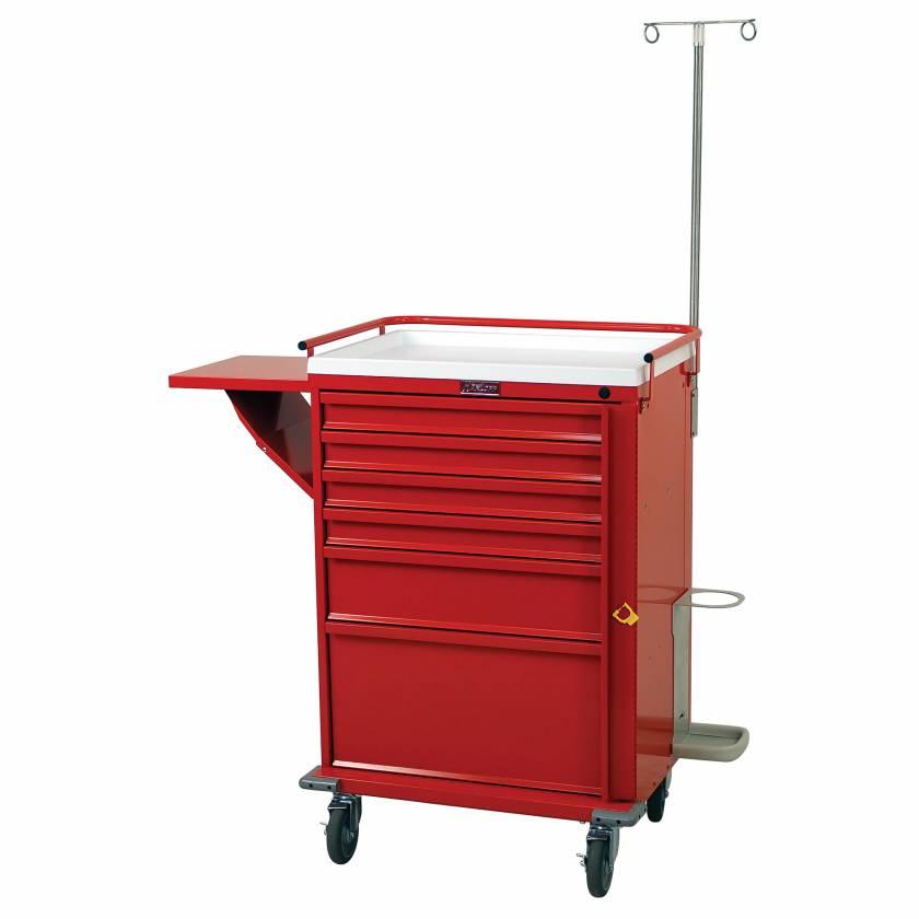 Harloff V30-6EMG2 V-Series Emergency Cart Six Drawer with Breakaway Lock & Deluxe Emergency Accessory Package