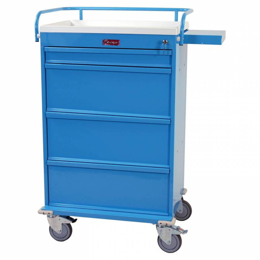 Harloff VLT150MOT Value Line MOT® Compatible Medication Cart with Key Lock