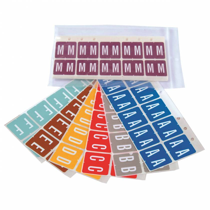 GBS 8848 Match VRPK Series Alpha Sheet Labels - A to Z Set (SKU VRPK-CS)