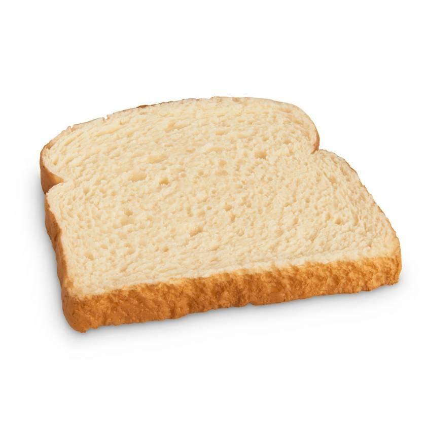 Life/form Bread Slice Food Replica - White