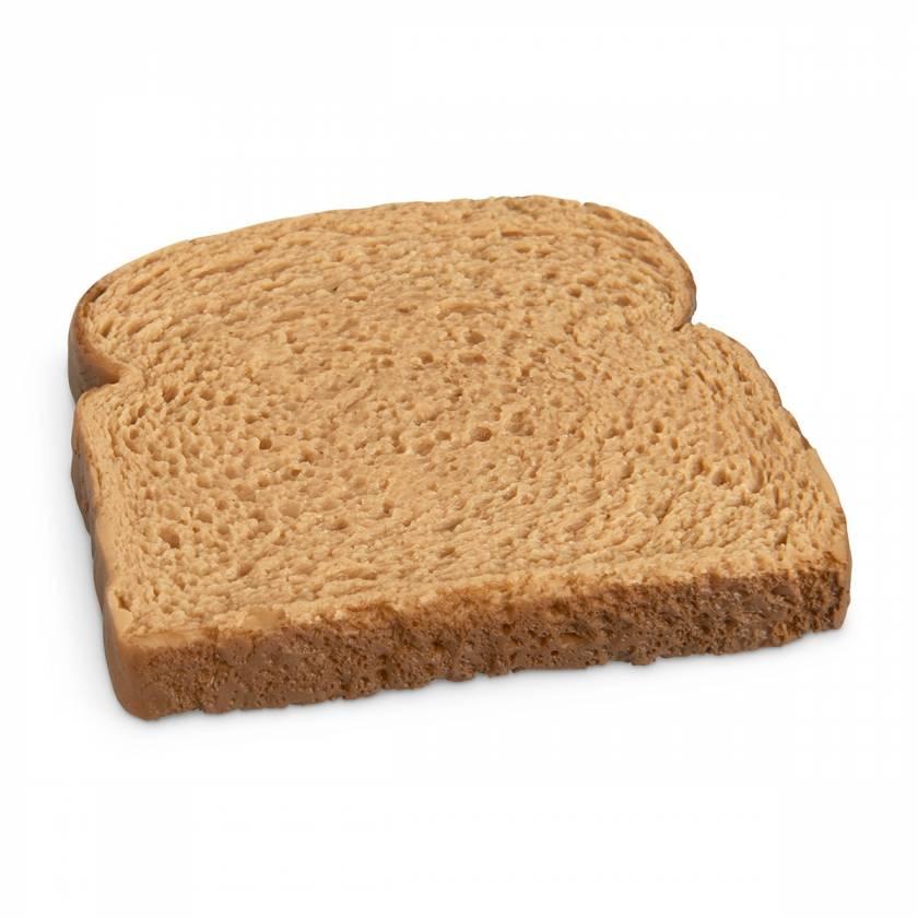 Life/form Bread Slice Food Replica - Whole Wheat
