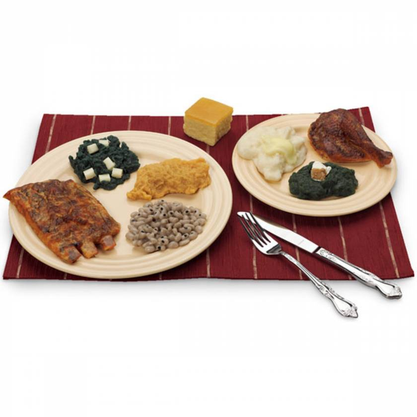 Life/form American Foods of the South Food Replica Set