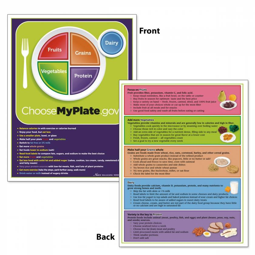 """MyPlate TearPad with Food Group Tips - 8-1/2"""" x 11 - 50 Sheets"""
