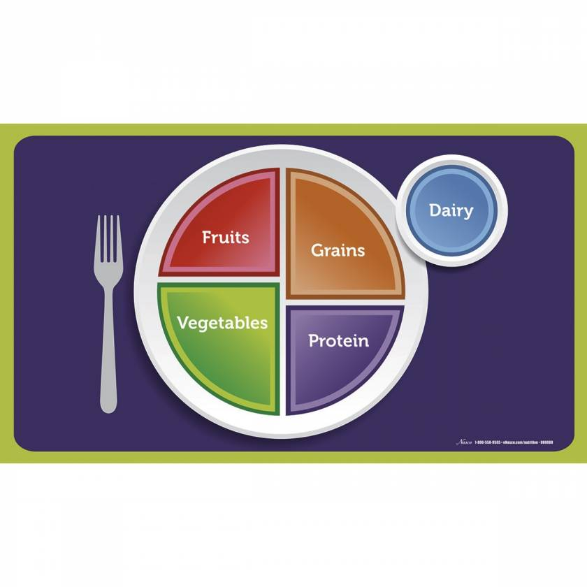 MyPlate Cling Place Mats - 19 x 11 - Set of 5