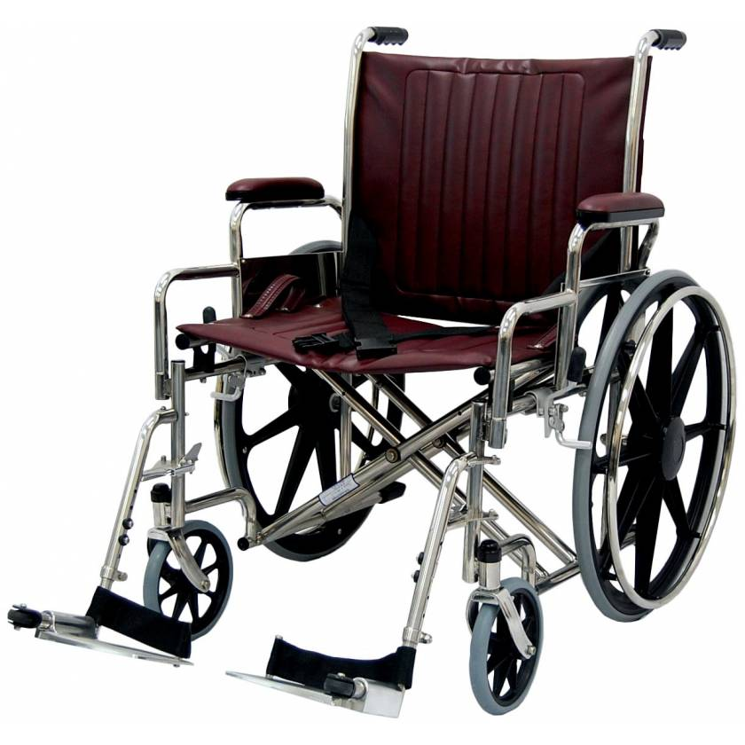 """22"""" Wide Non-Magnetic Wheelchair with Detachable Footrest"""