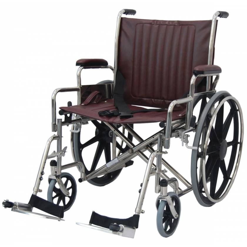 """24"""" Wide Non-Magnetic Wheelchair with Detachable Footrest"""