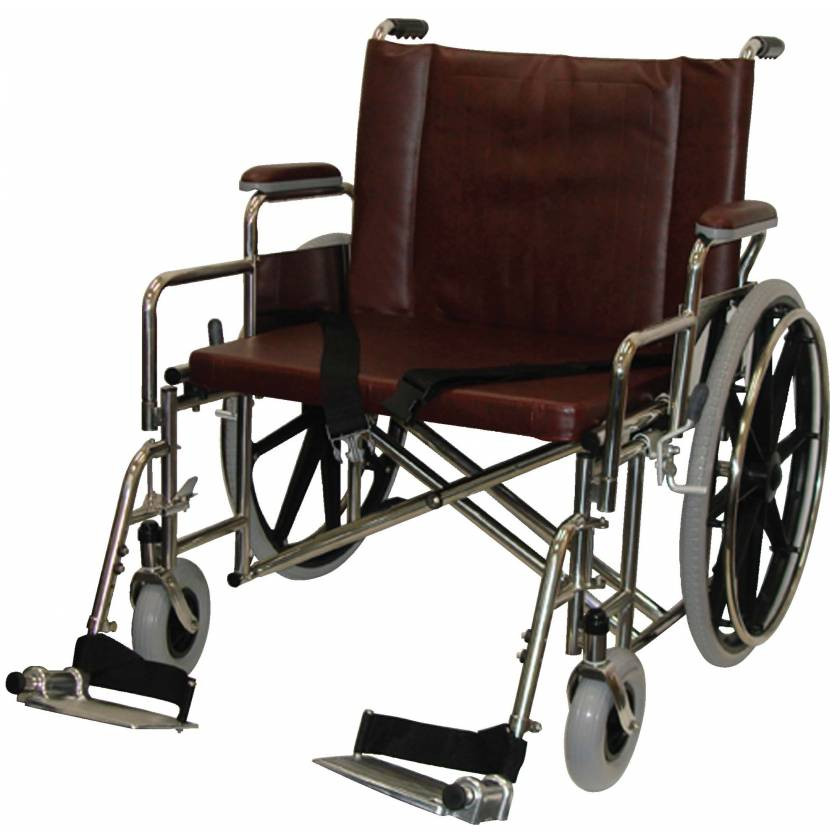 """26"""" Wide Non-Magnetic Bariatric Wheelchair with Detachable Footrest"""