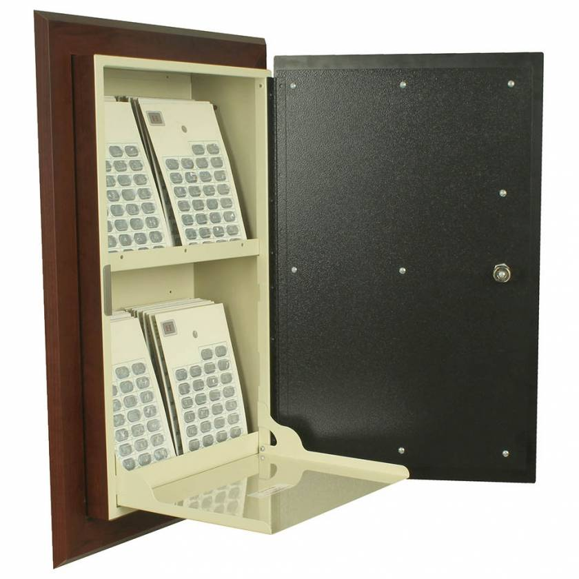 Harloff WL2760-DC Wood Laminate Medication Cabinet, Single Key Lock, Single Door with Decorative Panel
