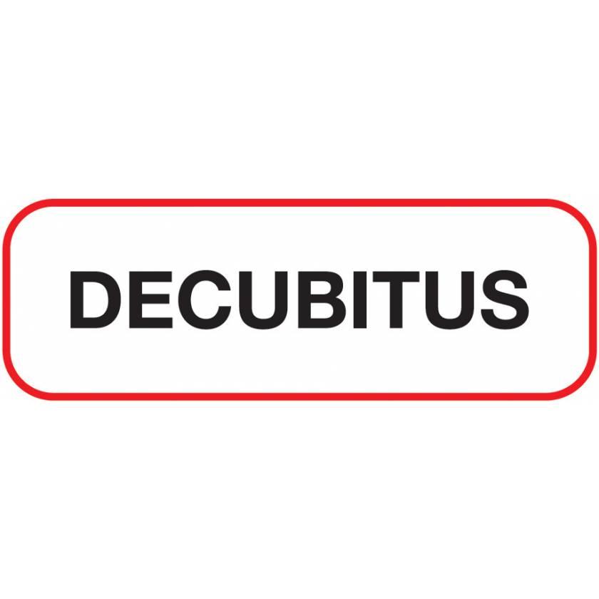 DECUBITUS Label
