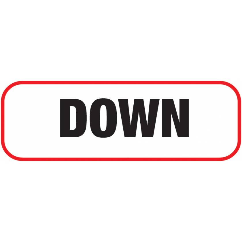 DOWN Label