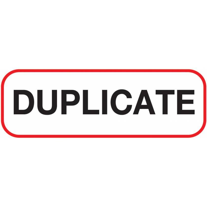DUPLICATE Label