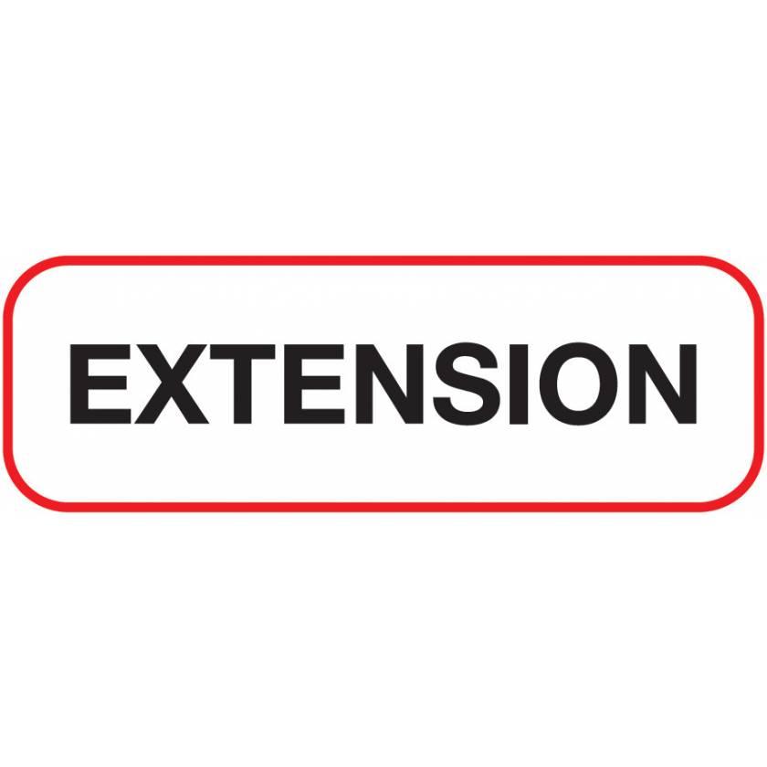 EXTENSION Label