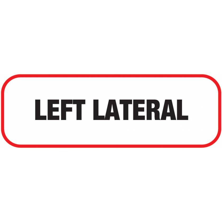 LEFT LATERAL Label