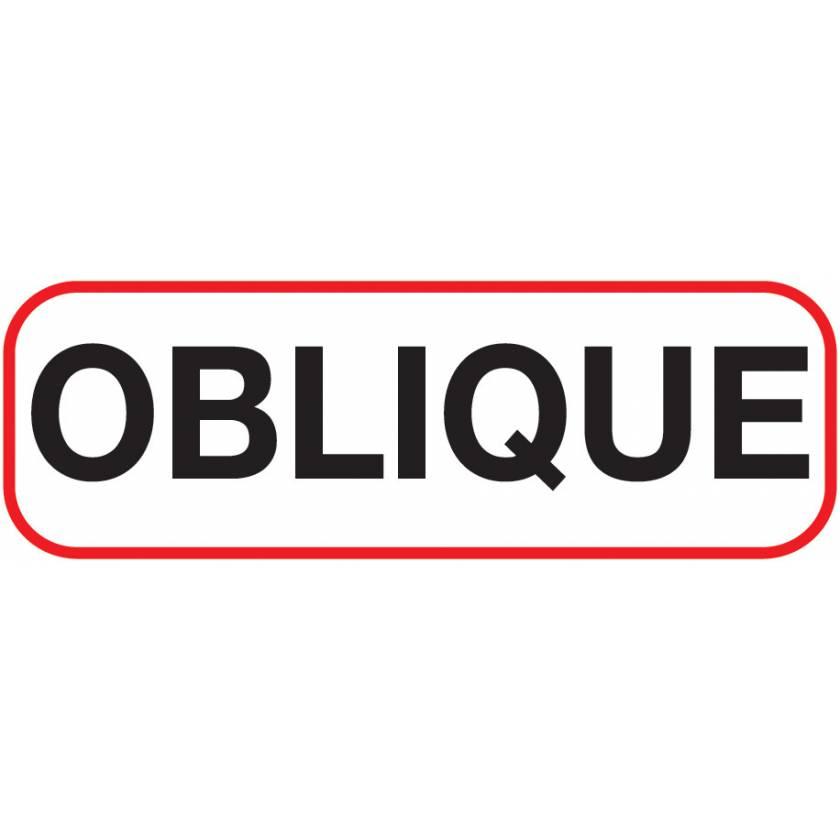 OBLIQUE Label