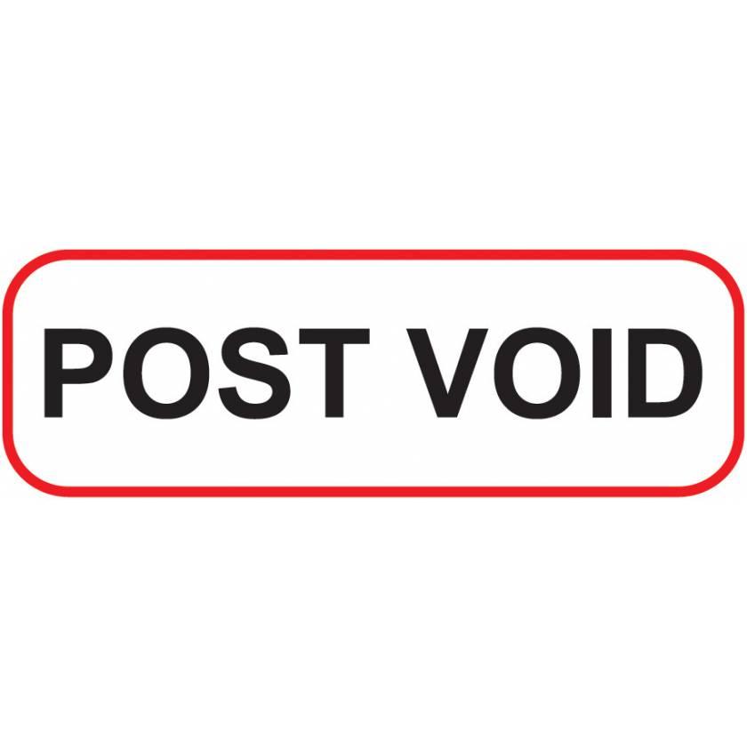 POST VOID Label