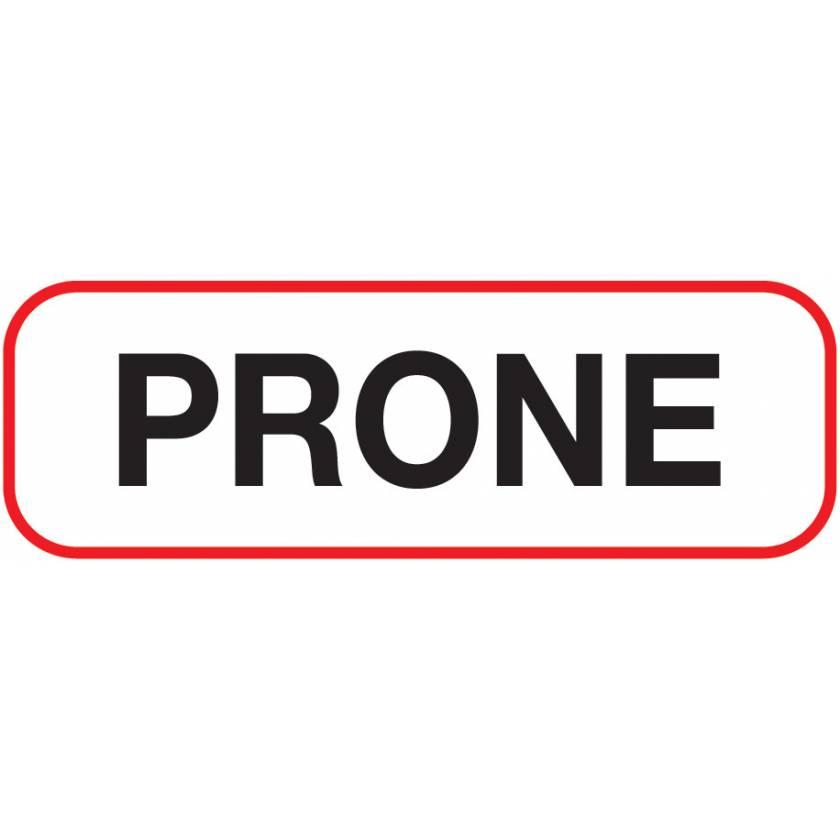 PRONE Label