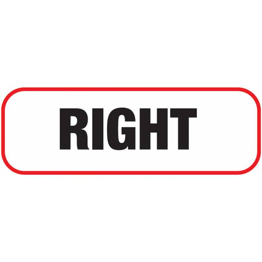 RIGHT Label