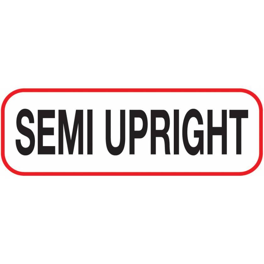 SEMI UPRIGHT Label