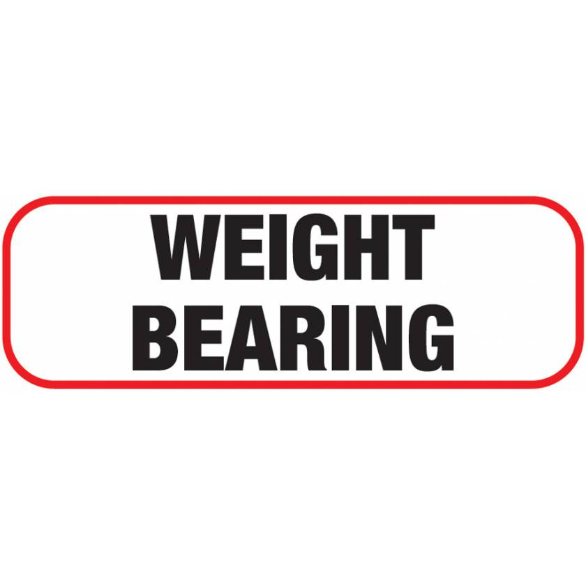 WEIGHT BEARING Label