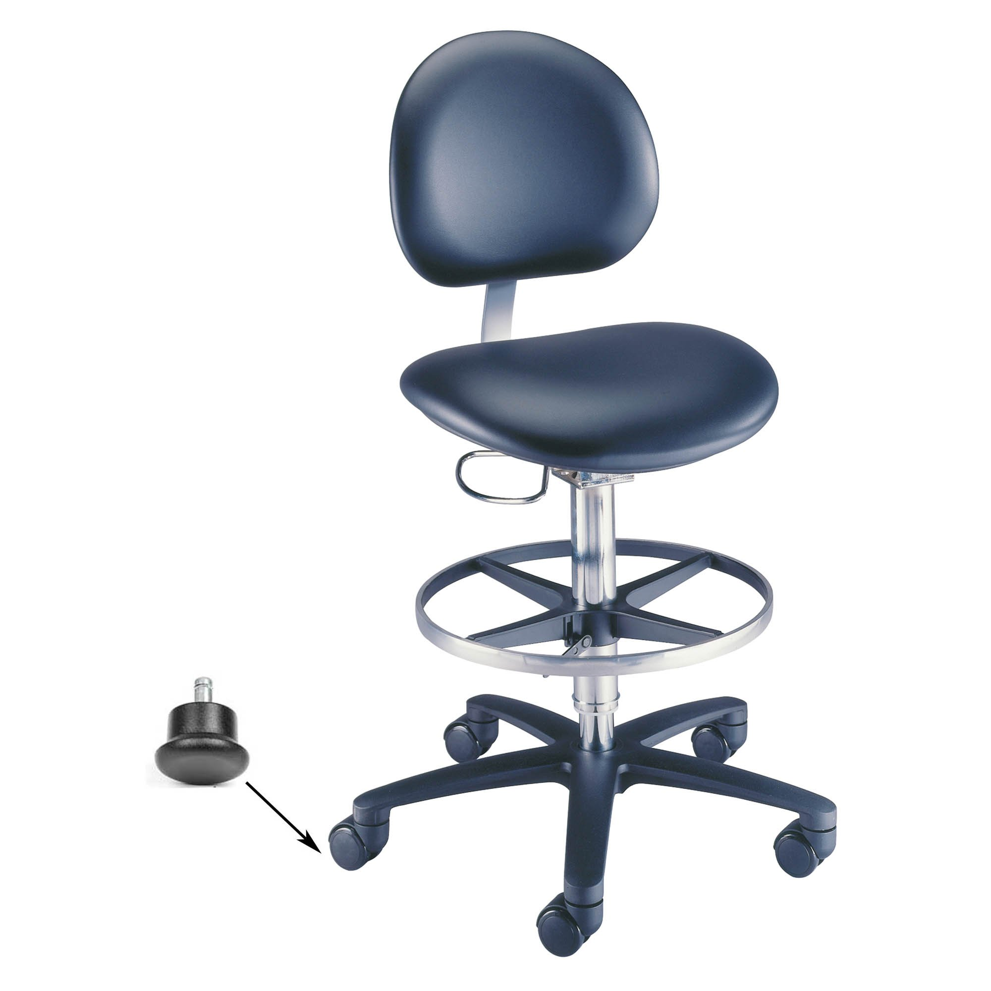 Millennium Backrest Laboratory Stool With Glides