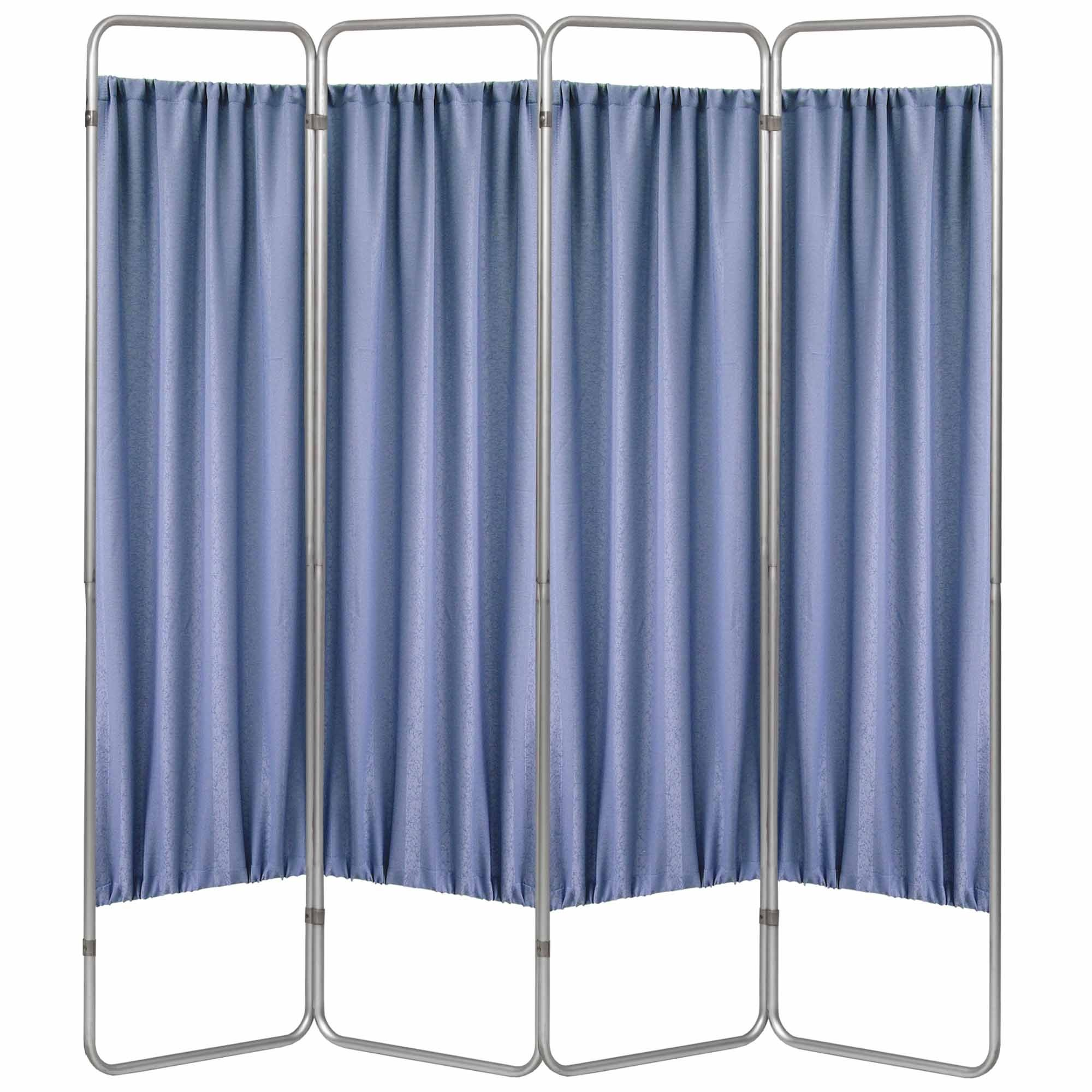 Economy 4 Section Folding Privacy Screen - Norway Designer Cloth Screen Panel