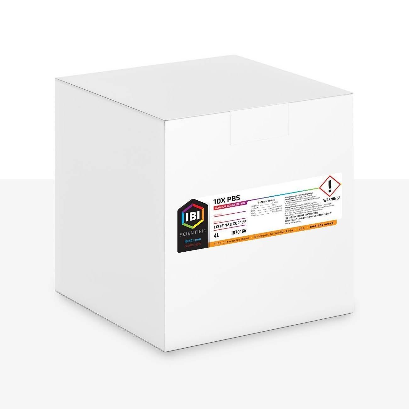 IBI 10X Phosphate Buffered Saline Premixed Solution - 4L
