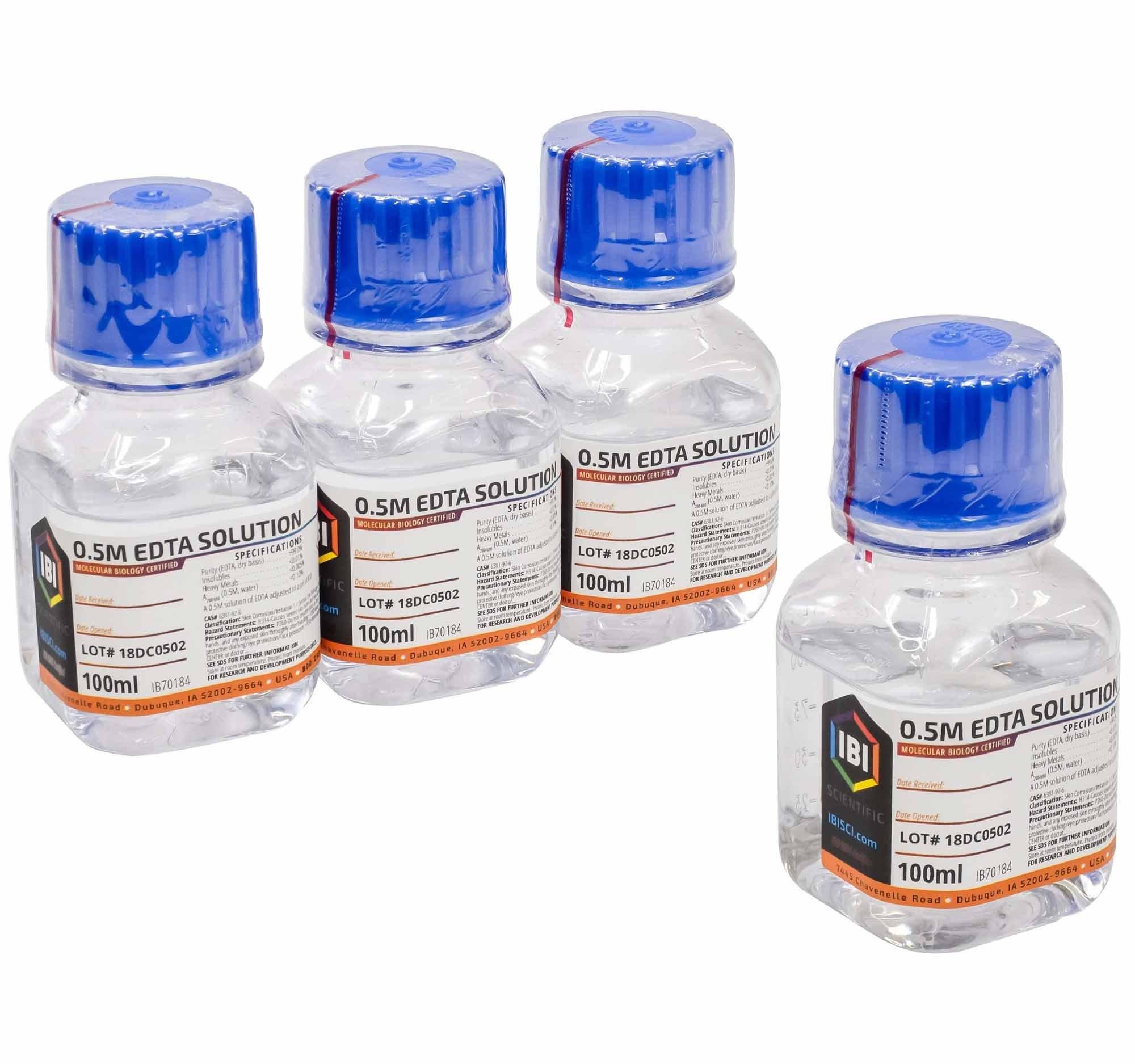 IBI EDTA 0.5M Solution pH 8.0 - 400mL (4 x 100mL)