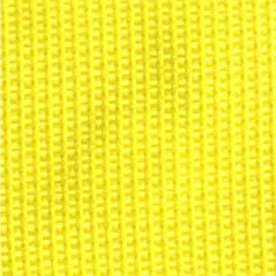 2-Piece Polypropylene Strap with Metal Push Button Buckle & Metal Roller Loop Ends - 7' - Yellow
