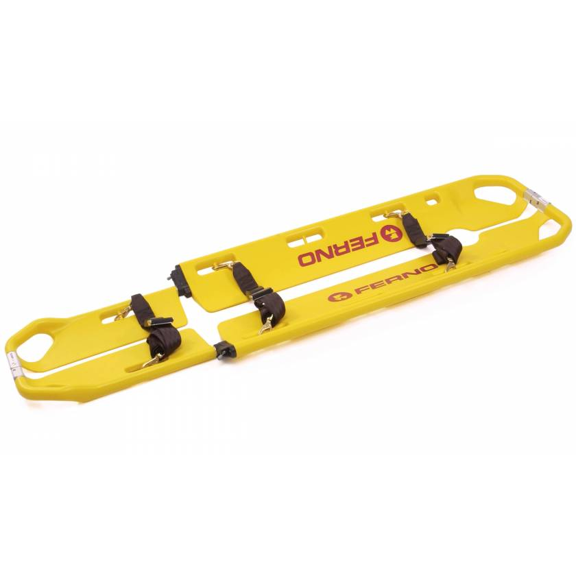 Ferno Model 65 EXL Scoop Stretcher Kit with Pins and Model 436 Speed-Clip Restraints