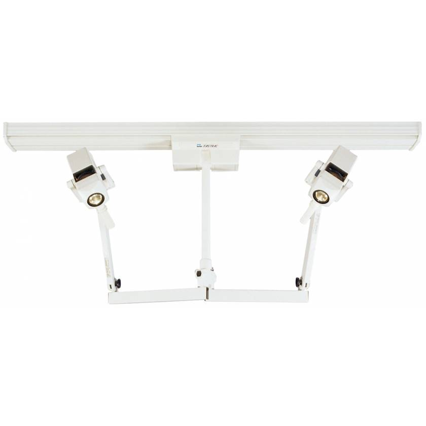 CoolSpot II Double Heads on Fastrac Ceiling Mount Exam Light