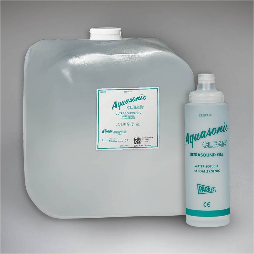 Aquasonic Clear Ultrasound Gel - 5L SONICPAC Container with Refillable Dispenser