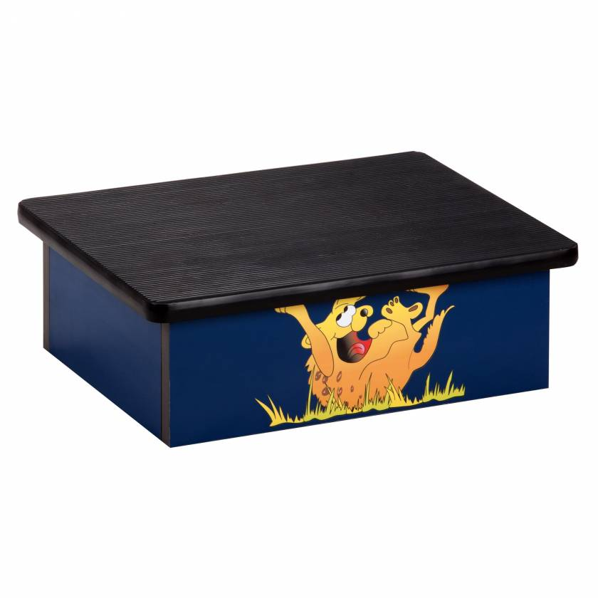 Clinton Laminate Foot Stool with Laughing Hyena Graphic Model 10-H