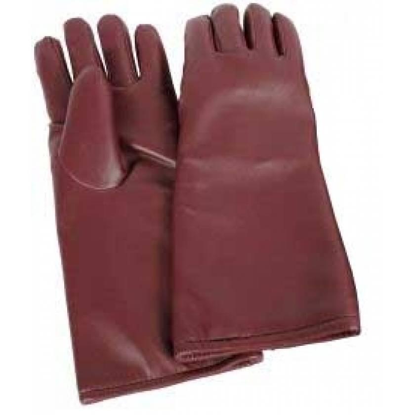 Seamless Lead Vinyl Gloves - Burgundy