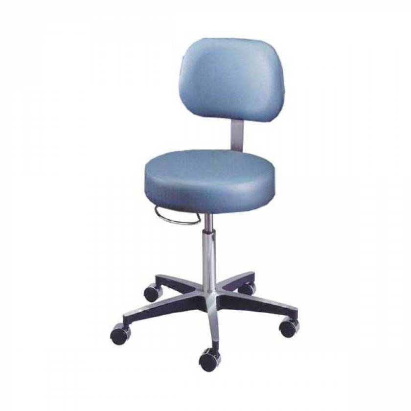 Model 11001BV Century Pneumatic Stool with Backrest & Seamless Seat