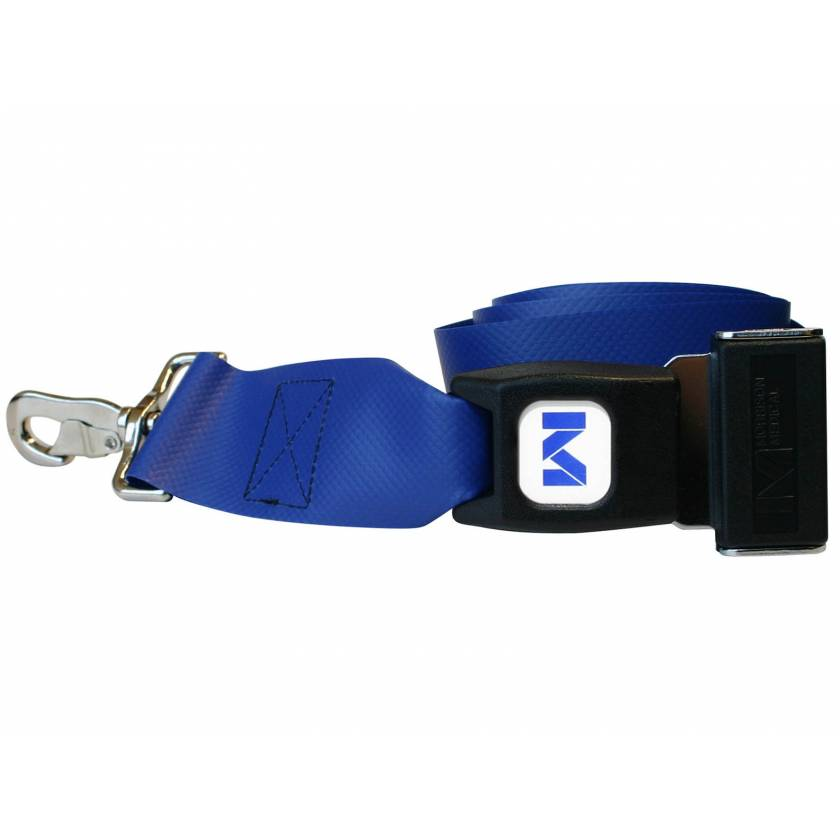 2-Piece Impervious Vinyl Strap with Metal Push Button Buckle & Metal Swivel Speed Clip Ends