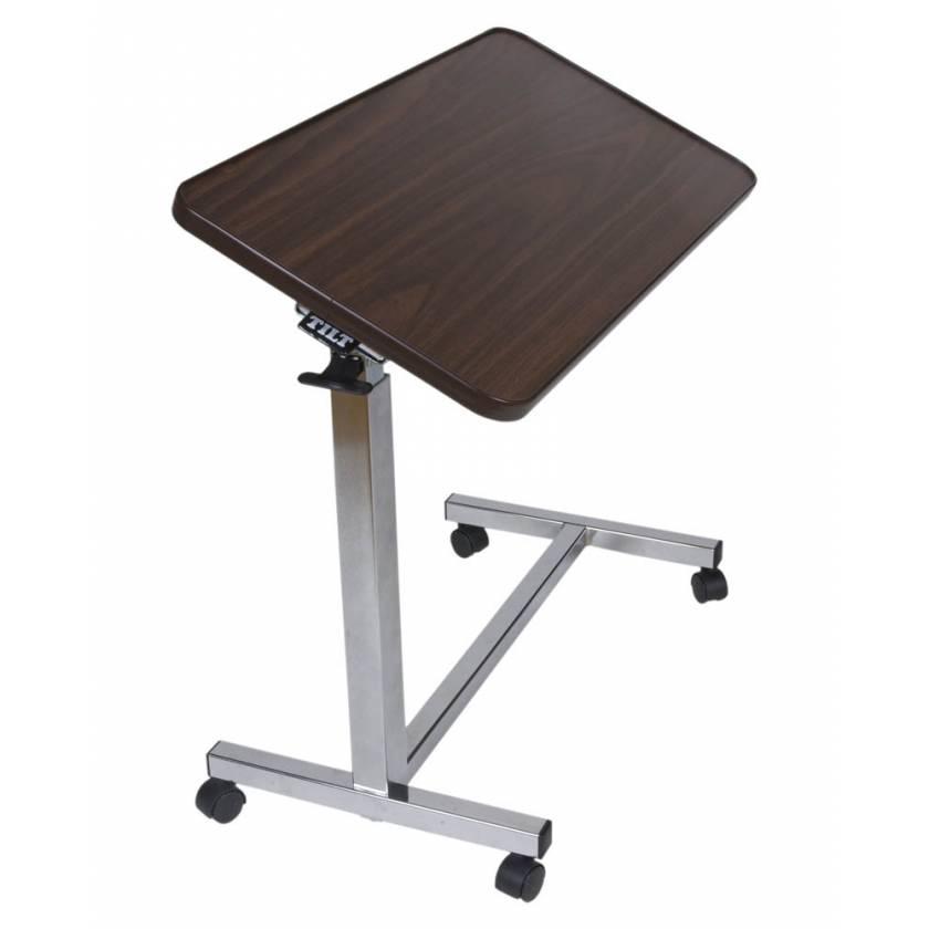 Novum Medical Model 132 Economy Overbed Table - 33 Degree Tilt with Spring Assisted Lift Mechanism